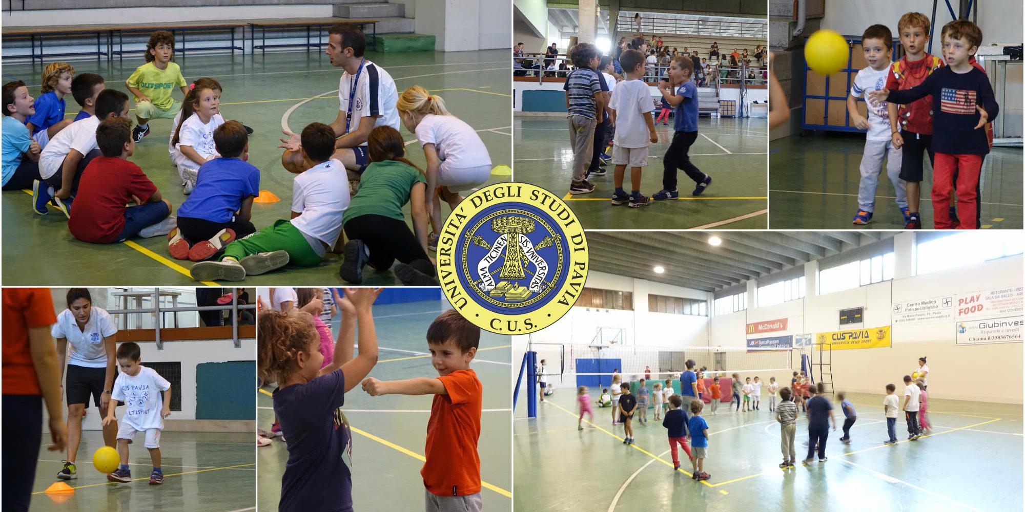 Corso sportivo bambini Multisport collage foto con logo