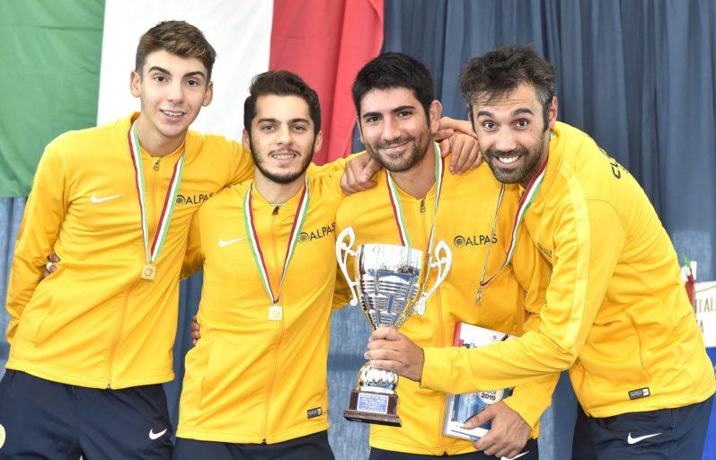 Il CUS Pavia Scherma si aggiudica la Coppa Italia 2019 di Spada Maschile a squadre